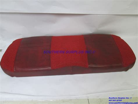 red leather bench seat seats pierce 160343dn011 red leather fabric two passenger