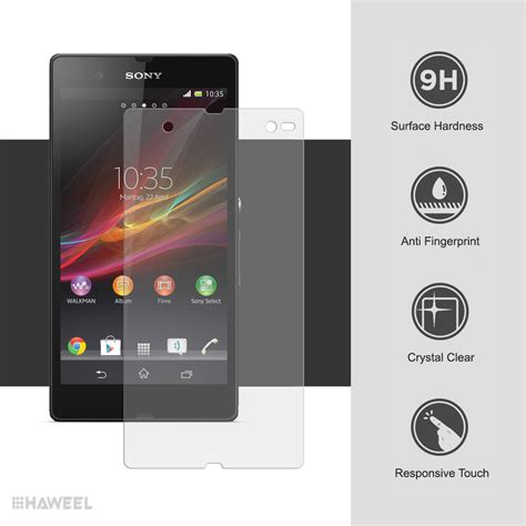Xpro Tempered Glass Xperia Z Clear 9h tempered glass screen protector sony xperia z clear