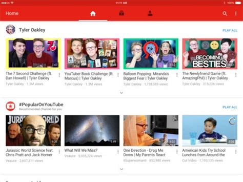 youtube layout changes ipad youtube for ios redesigned gets material design ui