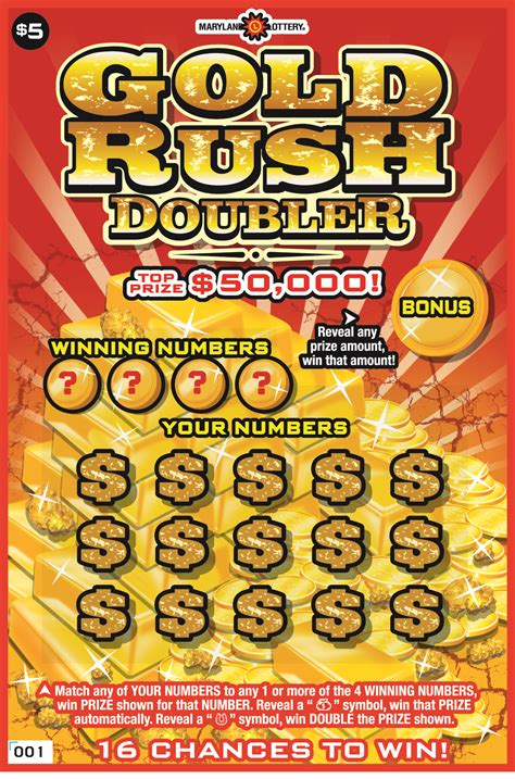 Free Instant Win Scratch Tickets - gold rush doubler