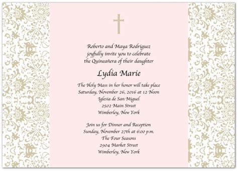 invitations templates for quinceaneras in spanish quinceanera invitations wording in spanish template best
