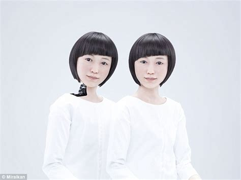 japanese android the hyper real robots that will replace receptionists pop and dolls unnervingly