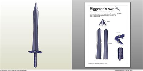 Sword Papercraft - papercraft pdo file template for biggoron sword