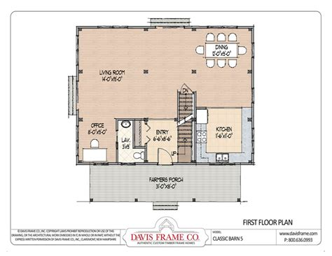 barn home post and beam floor plans classic studio 3 classic barn home 5 post and beam floor plans davis frame