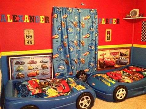 boys disney cars room a the top but