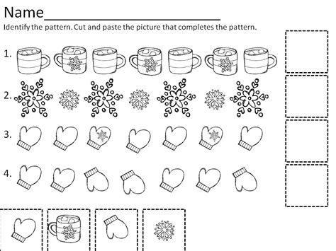 pattern activities preschool printable snowflake patterns for kindergarten