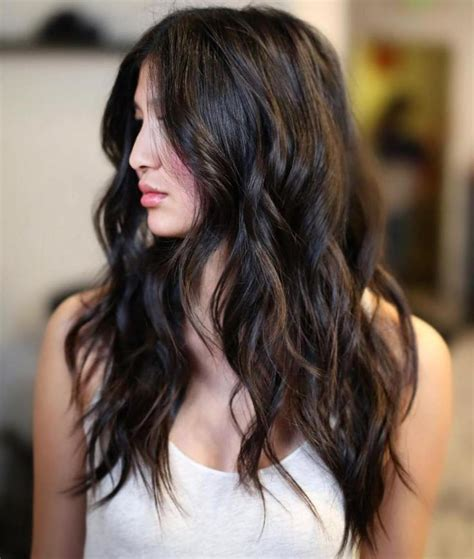 highlights for black hair and layered for ladies over 50 25 best ideas about highlights black hair on pinterest