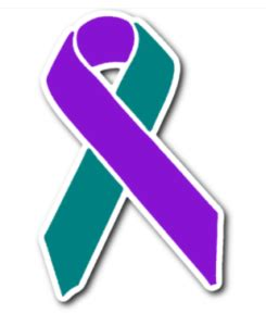 color teal meaning purple and teal ribbon meaning