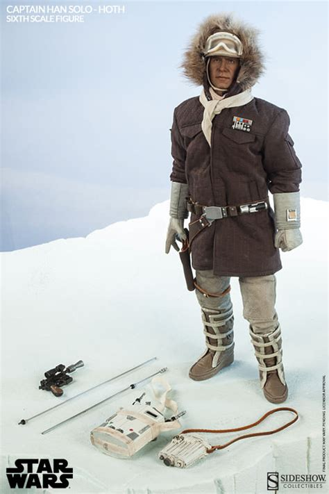Kaos Captain Costume An3c sideshow s sixth scale captain han hoth brown coat plastic and plush