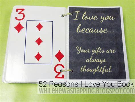 52 reasons why i love you while he was napping