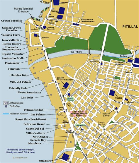 map hotels vallarta jalisco mexico vallarta info