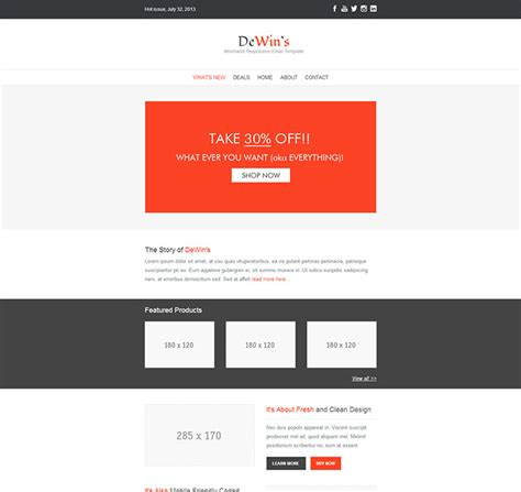 responsive email template 89 responsive email templates that help drive more sales