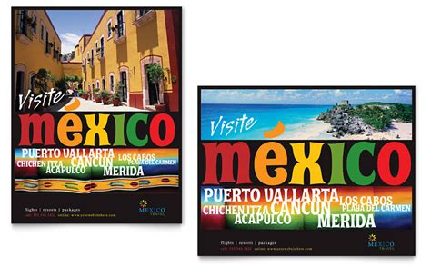 mexico travel poster template word amp publisher