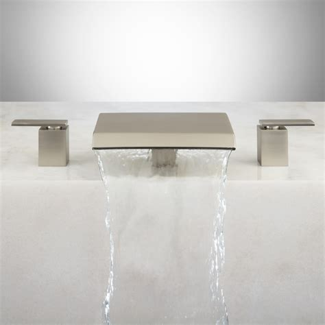 waterfall bathtub faucets lavelle waterfall roman tub faucet brushed nickel ebay