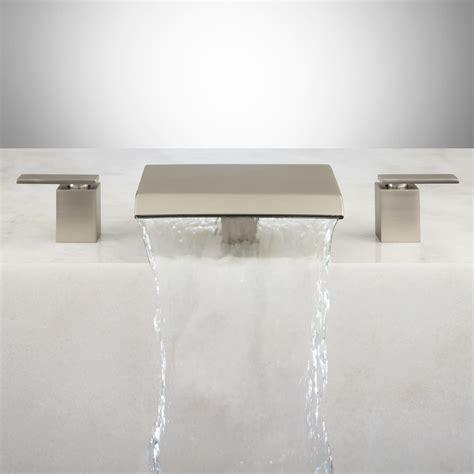 waterfall bathtub faucets lavelle waterfall roman tub faucet brushed nickel ebay