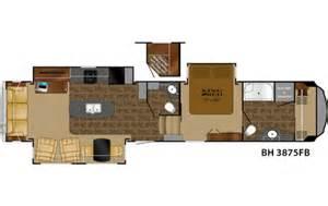 Heartland 5th Wheel Floor Plans by 2015 Bighorn 3875fb Floor Plan 5th Wheel Heartland Rv