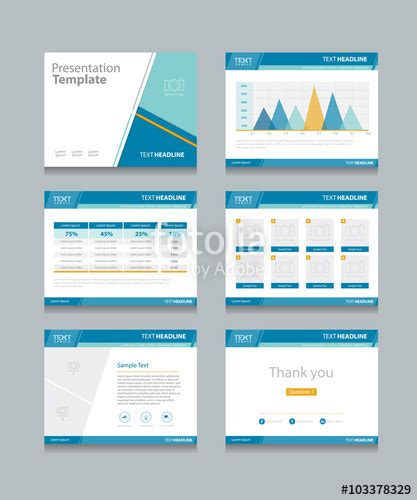 how to design powerpoint template quot business presentation template set powerpoint template