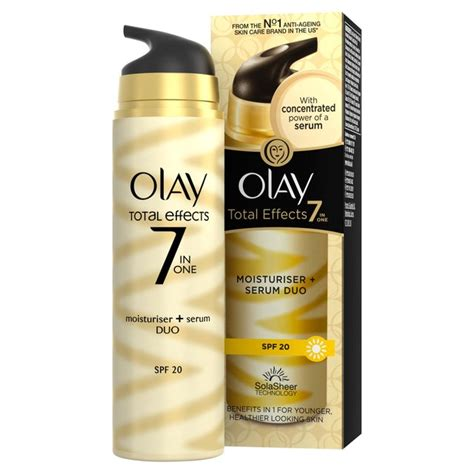 Olay Total Effects 7in1 olay total effects 7in1 moisturiser serum duo spf15 40ml from ocado