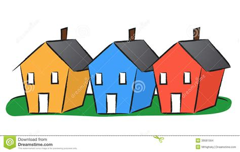 three houses three houses clipart clipground