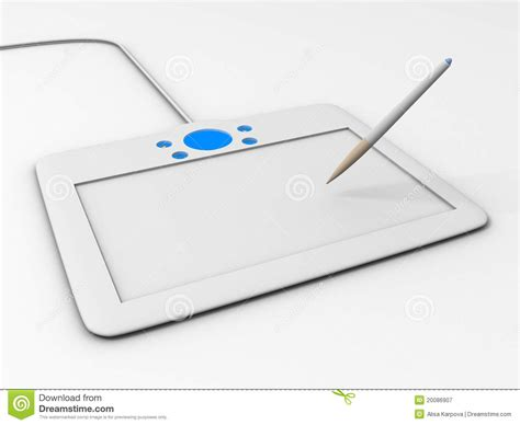 drawing pad free computer drawing tablet with pen royalty free stock