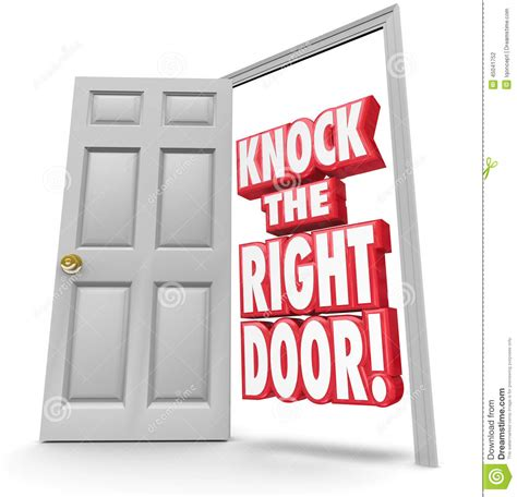 Right Door by Knock The Right Door 3d Words Find Search Best Customers