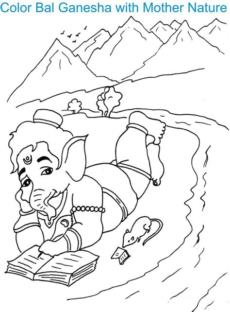 ganesh colouring pages page 2
