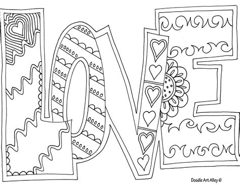 love is printable coloring pages love coloring page coloring pinterest adult coloring