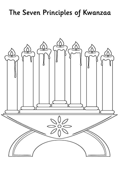 Kwanzaa Candles Coloring Pages Download And Print For Free Kwanzaa Coloring Pages