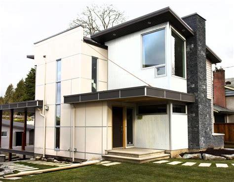 textured front facade modern box home 50 house siding ideas allura usa