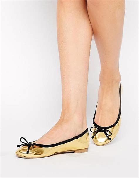 new look shoes flats new look new look letallic gold ballerina bow flat shoes
