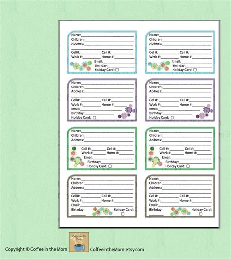 free printable address book new calendar template site