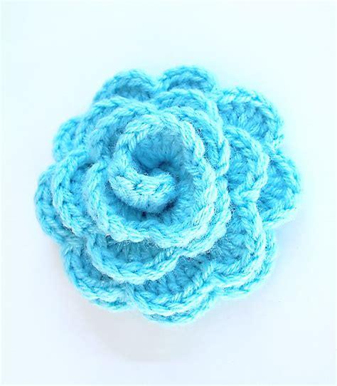 crocheted rosette flower chunky crochet pinterest flower crochet and crochet flowers