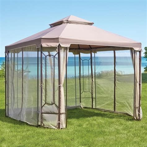 gazebo netting hton bay replacement netting for 10 ft x 10 ft