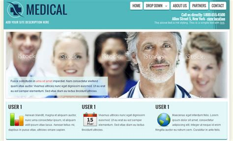 template joomla medical medical health doctor free joomla template