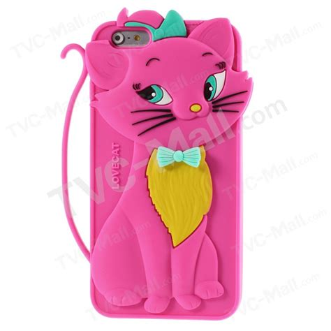 Iphone 6 6s 3d Kawaii Bowtie Cat Silikon Soft Cover Casing Lucu 3d bow tie cat silicone back for iphone 6 plus 6s plus 5 5 inch tvc mall