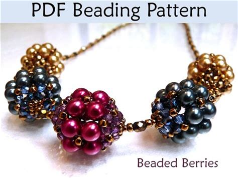beading pdf beaded berry pdf beading pattern interweave
