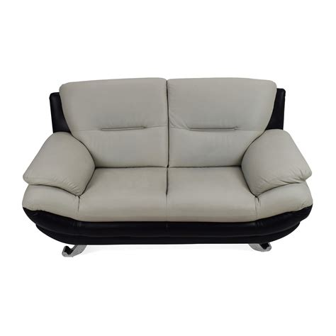 second hand designer sofas 62 off modern leather 2 seater couch sofas