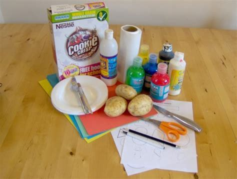 What Do You Need To Make A Paper Mache Volcano - things to make and do potato printing
