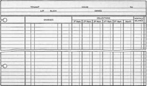 Section 42 Rent Ledger Rental Ledger Template
