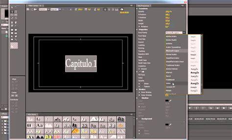 tutorial de adobe premiere cs6 tutorial adobe premiere cs6 crear creditos titulos texto