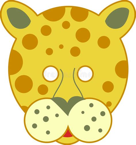 spotty leopard mask stock image image 1171581