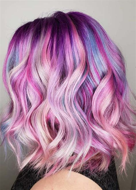 toffee hair color ideas 30 hottest cotton candy hair color ideas for 2018 hollysoly