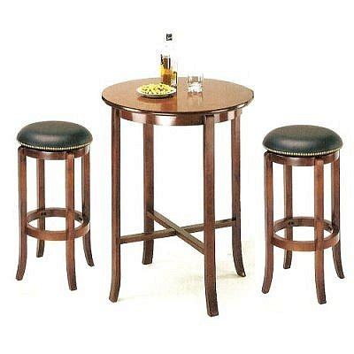 Pub Table With Stools by 3pcs York Cherry Pub Table Set With 2 Bar Stools Kilapumi