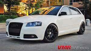 white audi a3 black rims