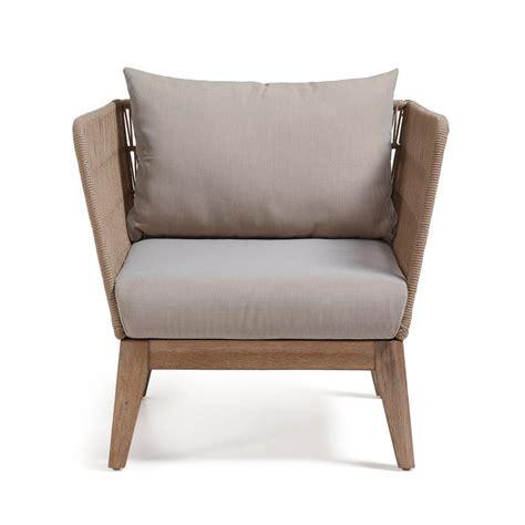 fauteuil vintage de jardin bois et corde belleny by drawer fr