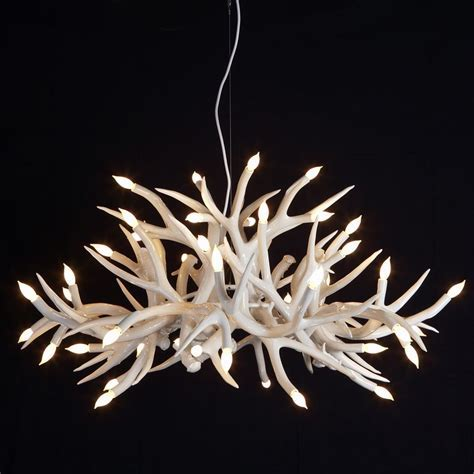 Lamp: Deer Horn Chandelier With Authentic Look For Your