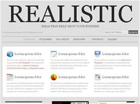 realistic free website template free css templates