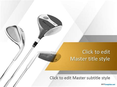 golf powerpoint template free golf clubs ppt template