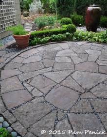 pieced flagstone patio quot mortared quot with mexican