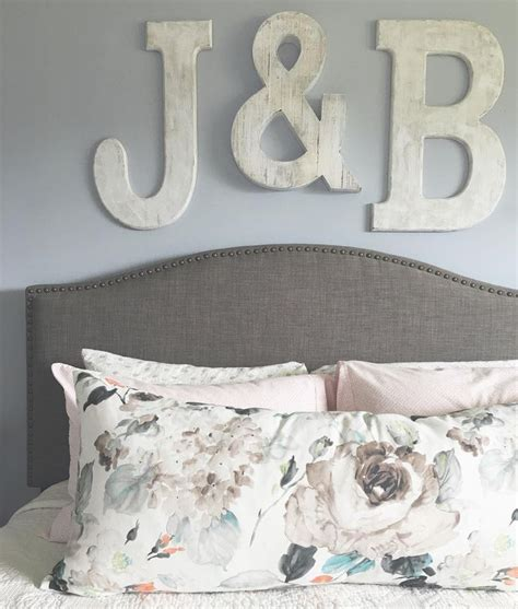 master bedroom initials over the bed diy letters from